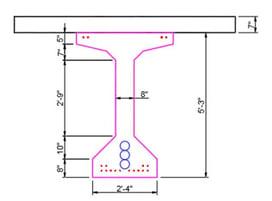 Details of PPC AASHTO Type V I-Beam