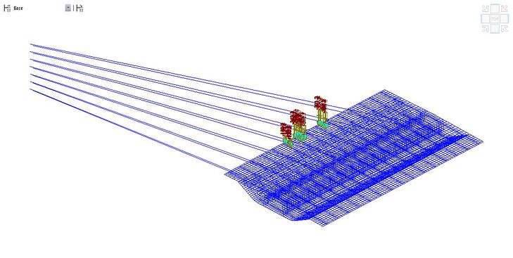 3D plate elements model for the PSC girder