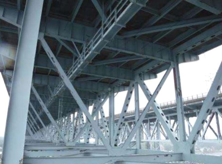 A truss bridge