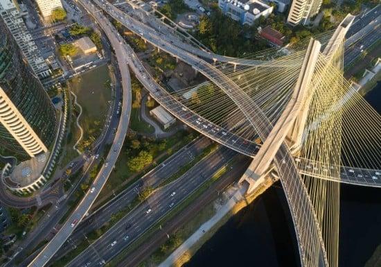 Puente octávio frias de oliveira Vista superior