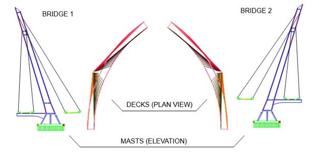 Deck Plan View & Mast Elevation View