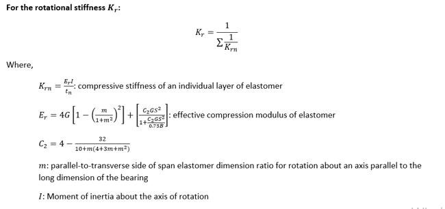 Rotational Stiffness Kr