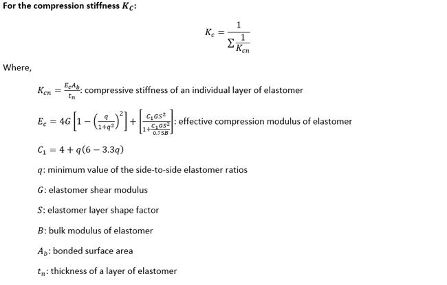 compression stiffness Kc