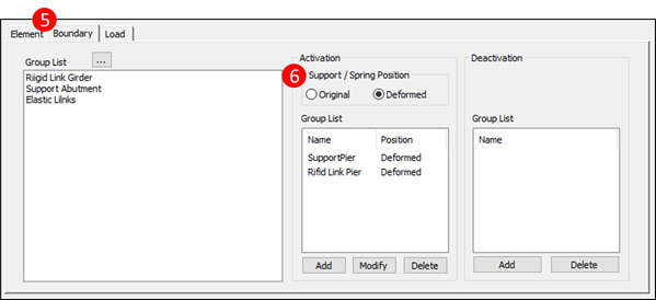 Figure 2.6 Compose Construction Stage – Boundary Tab