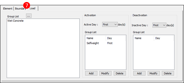 Figure 2.7 Compose Construction Stage – Load Tab