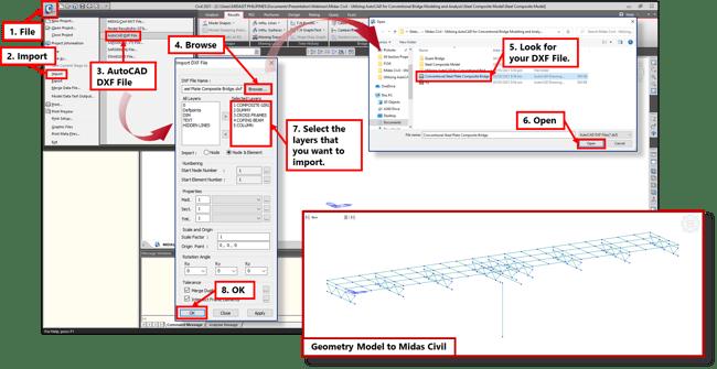 Image 1-4 Import DXF File to Midas Civil