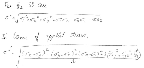 Figure 5. Von Mises Stresses