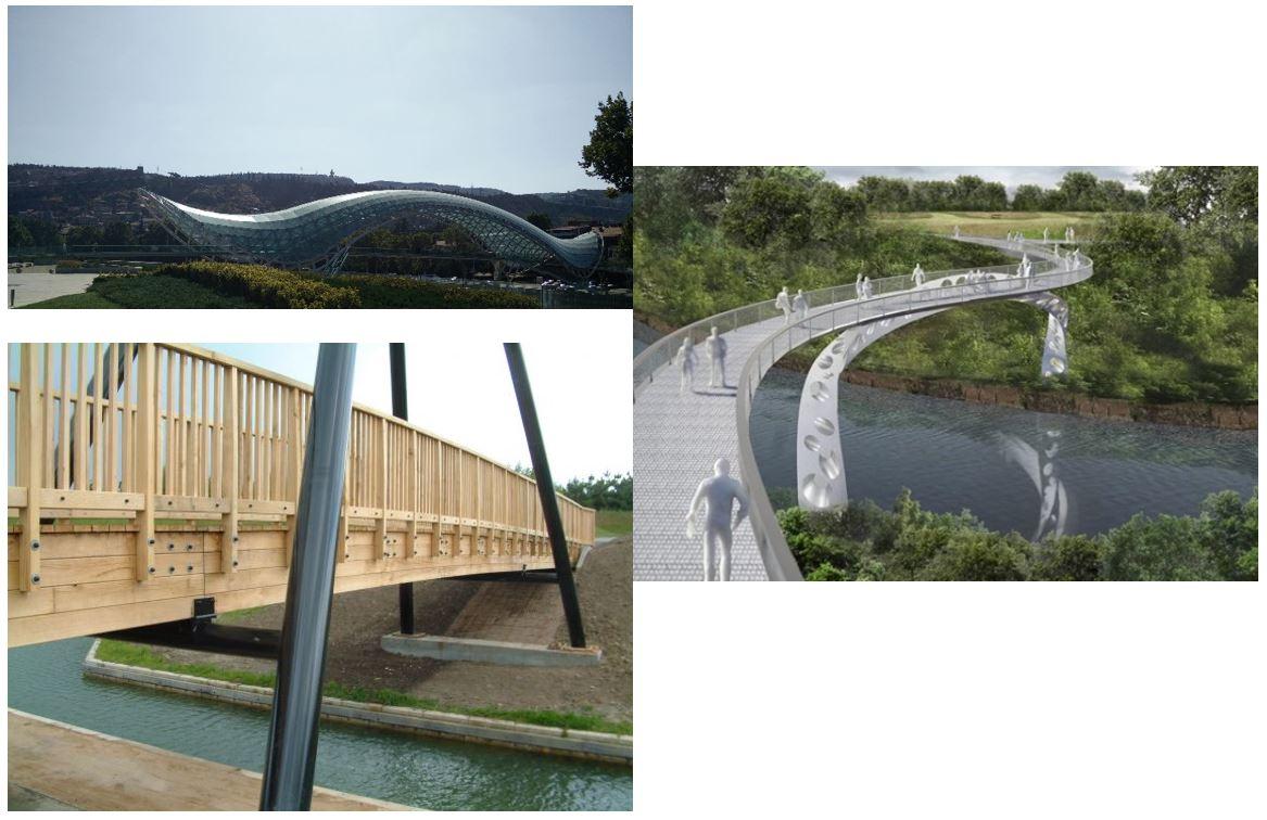 Figure 3: The aesthetic factor of the footbridges