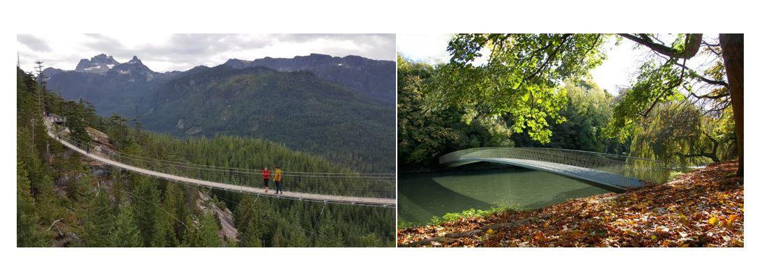 Figure 4: Slender airy footbridges